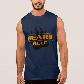 Pata de oso de la regla de los osos playera sin mangas