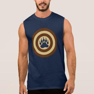 Pata de oso del escudo del superhéroe del orgullo playera sin mangas