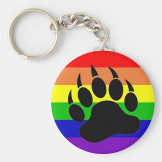 Pata de oso del orgullo gay llavero redondo tipo pin