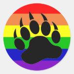 Pata de oso del orgullo gay pegatina