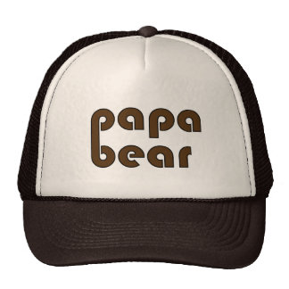 Pata de oso del oso de la papá (Brown) Gorros Bordados
