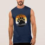 Pata de oso en el círculo del orgullo del oso (fre camiseta sin mangas
