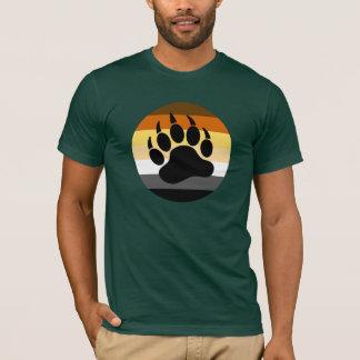 Pata de oso en el círculo del orgullo del oso playera