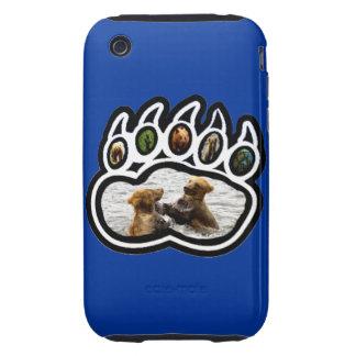 Pata de oso funda resistente para iPhone 3