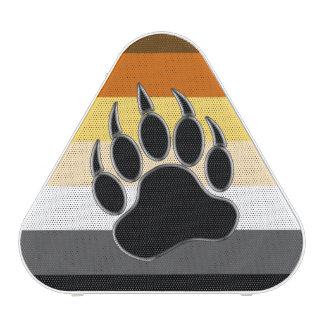 Pata de oso gay de la bandera del orgullo del oso altavoz bluetooth