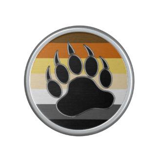 Pata de oso gay de la bandera del orgullo del oso altavoz
