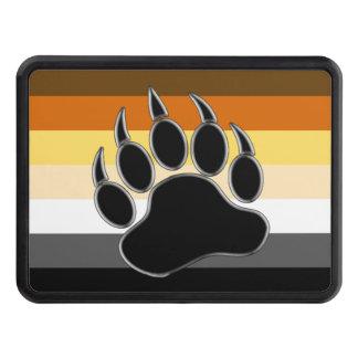 Pata de oso gay de la bandera del orgullo del oso tapas de remolque