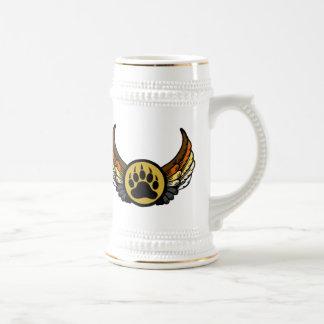 Pata de oso gay del ala del ángel de la bandera jarra de cerveza