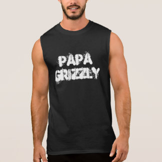 Pata de oso grizzly de la papá camisetas sin mangas