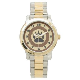 Pata de oso muy elegante reloj de mano