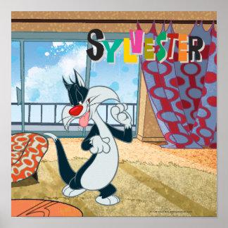 Pata de Sylvester para arriba Posters