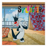 Pata de Sylvester para arriba Póster
