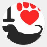 Pata del corazón etiquetas