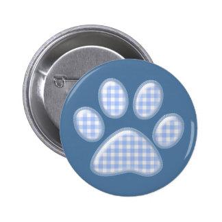 pata del gato de la guinga - azul pin redondo de 2 pulgadas