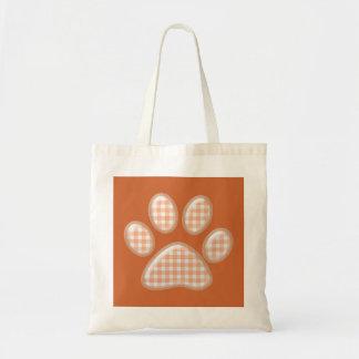 pata del gato de la guinga - naranja bolsa lienzo