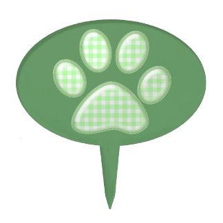 pata del gato de la guinga - verde decoración de tarta