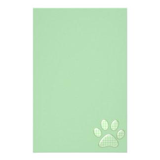 pata del gato de la guinga - verde papeleria de diseño