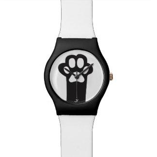 Pata del gato reloj de mano