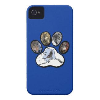 Pata del lobo de Alaska Carcasa Para iPhone 4