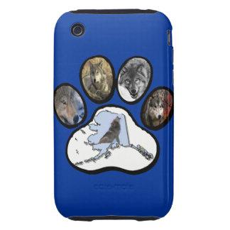 Pata del lobo de Alaska Funda Resistente Para iPhone 3