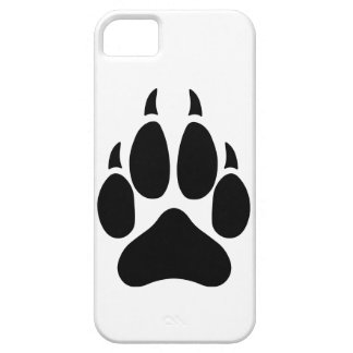 Pata del lobo iPhone 5 funda