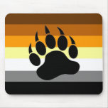 Pata del orgullo del oso alfombrillas de ratón