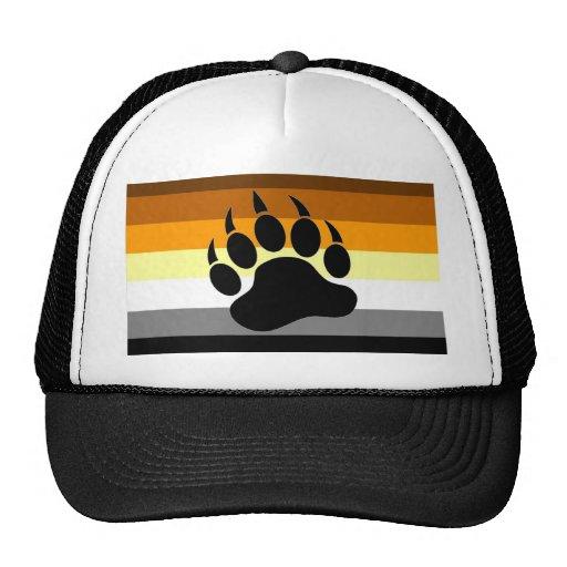 Pata del orgullo del oso gorras de camionero