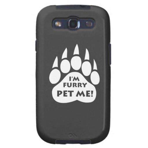 """Pata del orgullo del oso """"soy PELUDO ME ACARICIO""""  Samsung Galaxy S3 Cobertura"""