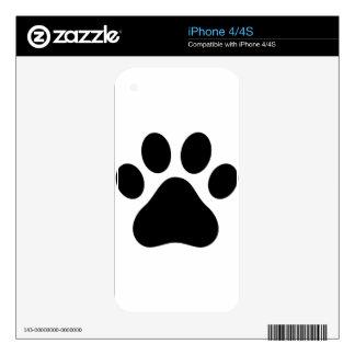 Pata del perrito calcomanías para el iPhone 4S