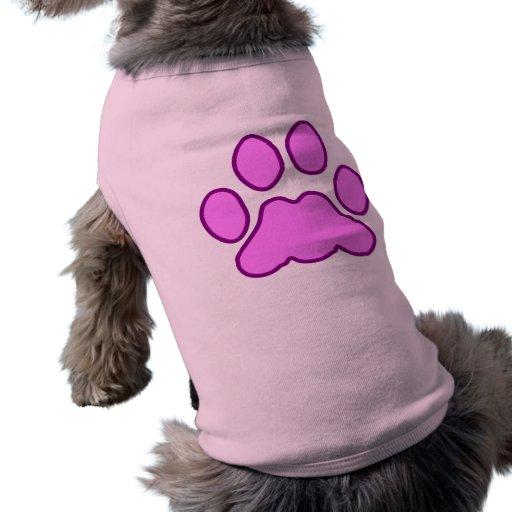 Pata del perrito de las rosas fuertes ropa de perros