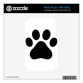 Pata del perrito iPod touch 4G calcomanías