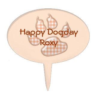 pata del perro de la guinga - naranja figuras para tartas