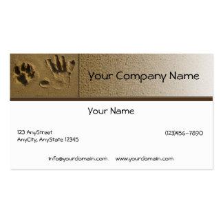 Pata del perro de los mejores amigos e impresión tarjetas de visita