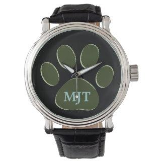 pata del perro personalizada relojes de mano