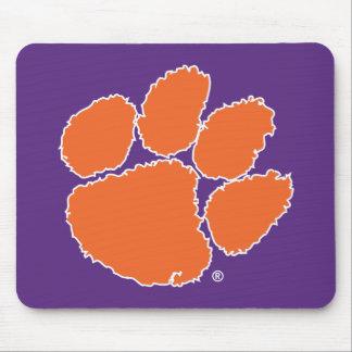 Pata del tigre de la universidad de Clemson Alfombrillas De Ratón