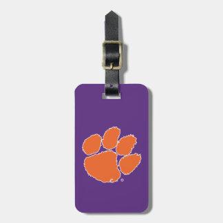 Pata del tigre de la universidad de Clemson Etiquetas Para Maletas