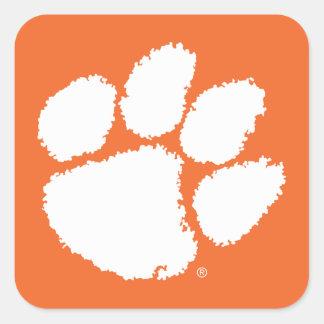 Pata del tigre de la universidad de Clemson Pegatina Cuadrada