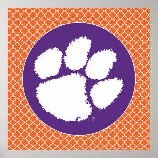 Pata del tigre de la universidad de Clemson Póster