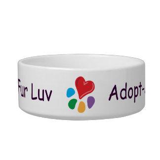 Pata del today_Heart de Luv_Adopt-a-pet de la piel Tazones Para Comida Para Gato