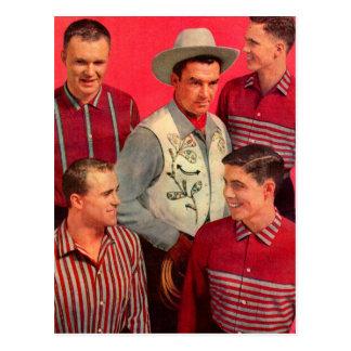 pata del vaquero de los años 50 y sus muchachos postal