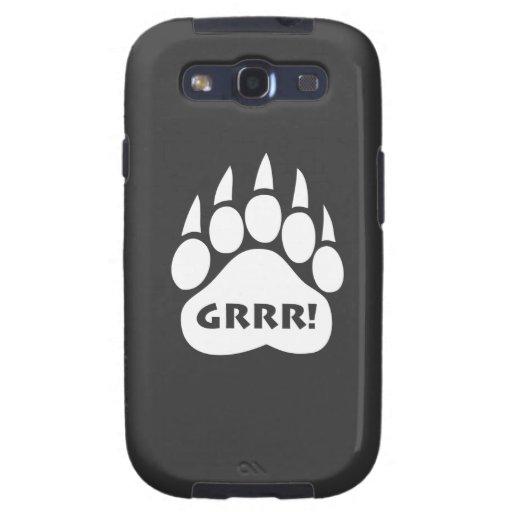 """Pata """"Grrr del orgullo del oso!"""" Caso del ambiente Samsung Galaxy S3 Cobertura"""
