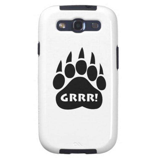 """Pata """"Grrr del orgullo del oso!"""" Caso del ambiente Galaxy S3 Carcasas"""