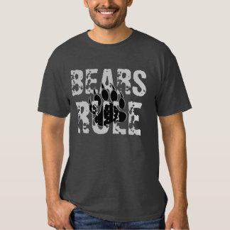 Pata negra y de plata de la regla de los osos de playera