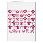 Pata por el perro australiano del ganado de la pat felicitación