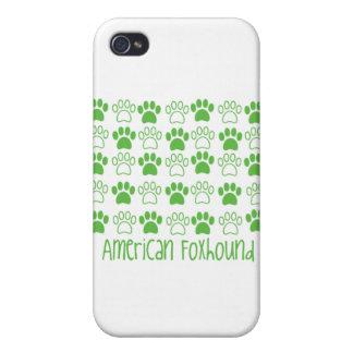 Pata por el raposero americano de la pata iPhone 4 funda
