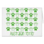 Pata por la pata Terrier australiano Felicitaciones