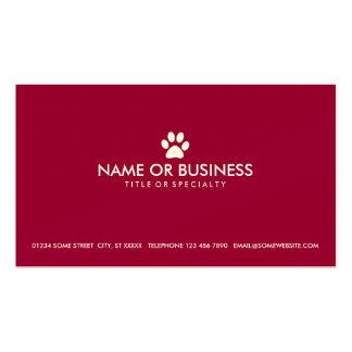 pata simple del mascota tarjetas de visita