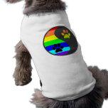 Pata Yin Yang del arco iris Ropa De Perros