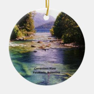 Patagonia, Argentina - Correntoso River Ceramic Ornament
