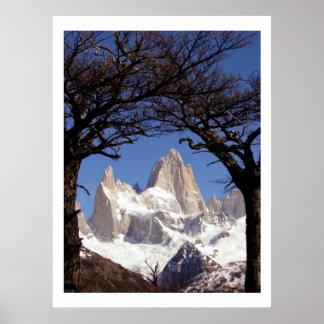 Patagonia de Fitz Roy del soporte Impresiones